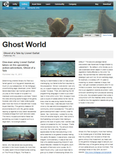 Unity gallery article