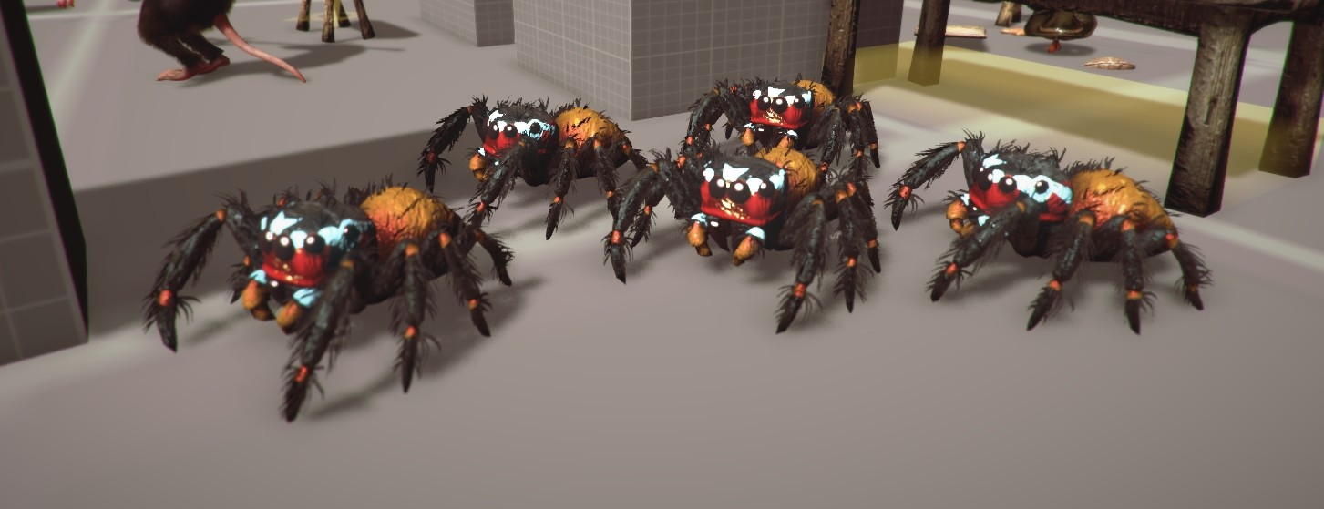 New spiders inside the Unity engine
